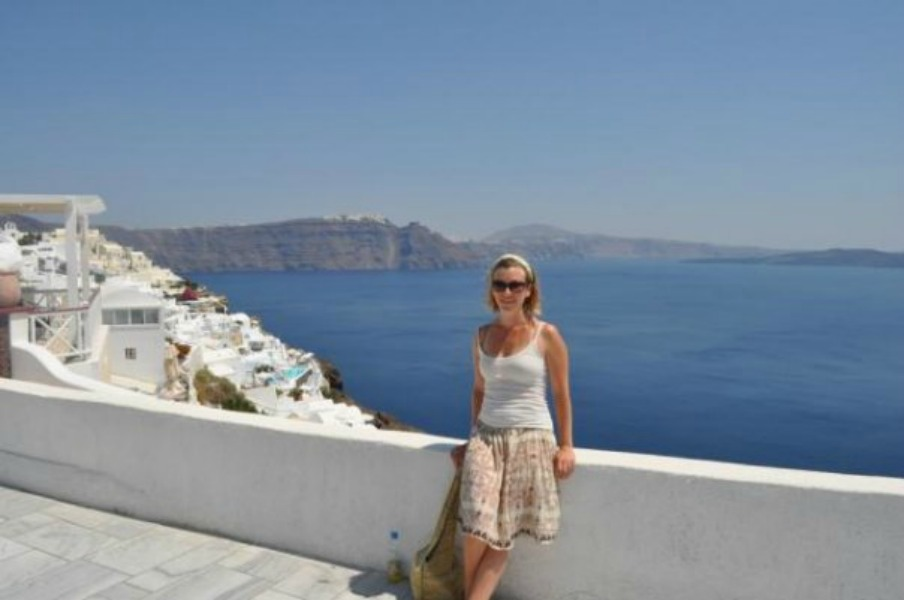 Me in Santorini - don't let the smile fool you